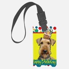 BirthdayCupcakeAiredale Luggage Tag