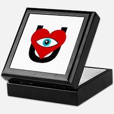 eye_heart_U_black_white_circle Keepsake Box