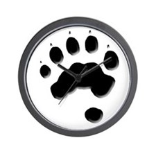Cute Outdoor paw Wall Clock