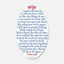 wife Oval Car Magnet