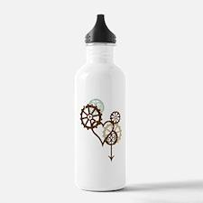 steampunk love Water Bottle