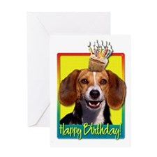BirthdayCupcakeBeagleHB Greeting Card