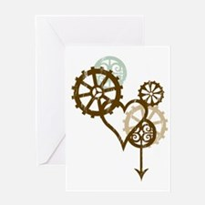 steampunk love Greeting Card