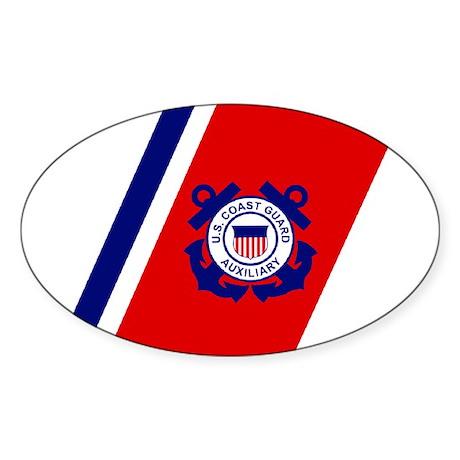 USCG Auxiliary Stripe<BR> Horizontal Sticker