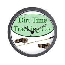 Dirt Time Tracking Company Wall Clock