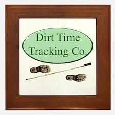 Dirt Time Tracking Company Framed Tile