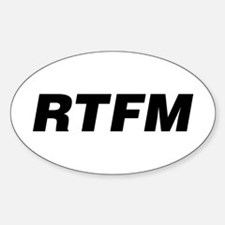 RTFM Oval Decal