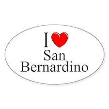 """I Love San Bernardino"" Oval Decal"