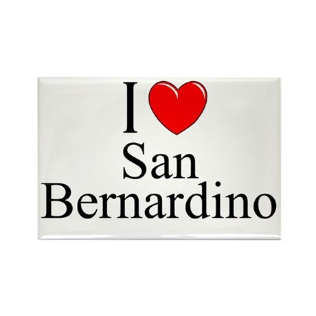 """I Love San Bernardino"" Rectangle Magnet"