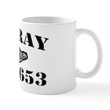 ray black letters Mug