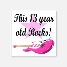 "personalized rock star Square Sticker 3"" x 3"""