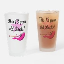 personalized rock star Drinking Glass