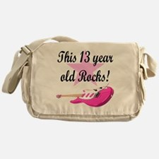personalized rock star Messenger Bag