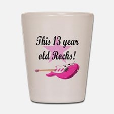 personalized rock star Shot Glass