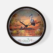 Heron Point Wall Clock