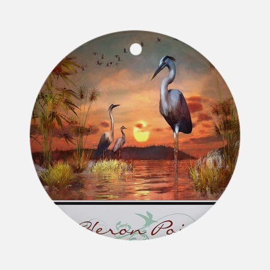 Heron Point Round Ornament