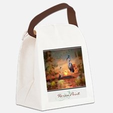 Heron Point Canvas Lunch Bag