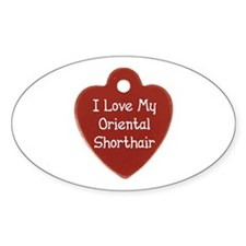 Love Shorthair Oval Decal