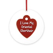 Love Shorthair Ornament (Round)