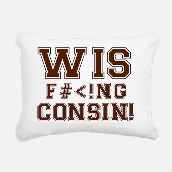 wiseffingconsin Rectangular Canvas Pillow