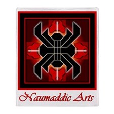 Naumadds Trademark - Red Throw Blanket