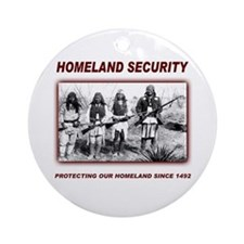 Homeland Security Native Pers Ornament (Round)