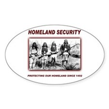 Homeland Security Native Pers Oval Decal