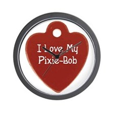 Love Pixie-Bob Wall Clock