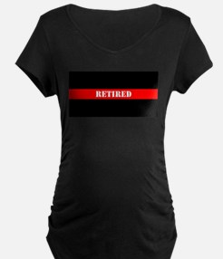 Retired Firefighter Maternity T-Shirt
