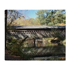 Pooles Mill Covered Bridge Throw Blanket