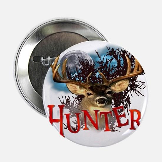 "Hunter take your best shot Deer White 2.25"" Button"