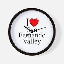 """""""I Love San Fernando Valley"""" Wall Clock"""