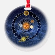 Two Mayan Calendar Endings Crop-Cir Ornament