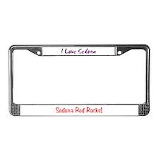 I Love Sedona License Plate Frame