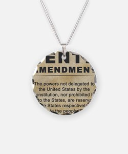 jan12_tenth_amendment_1 Necklace Circle Charm
