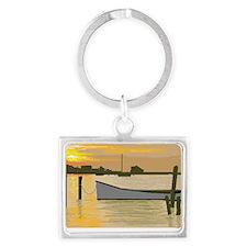 Sunset  on Silver Lake Landscape Keychain