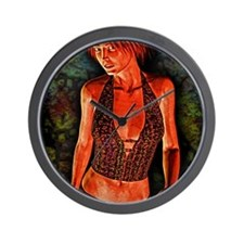 GrungeQueen9-12 Wall Clock