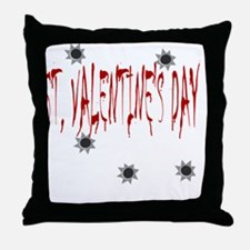 St Valentines Day Massacre Throw Pillow