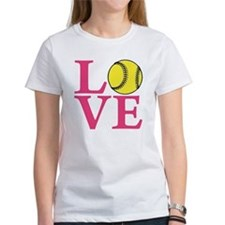 lt melon2, Softball LOVE Tee
