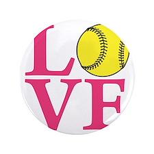 """lt melon2, Softball LOVE 3.5"""" Button"""