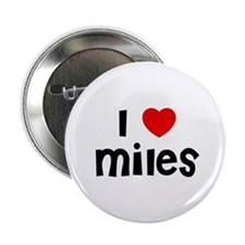 "I * Miles 2.25"" Button (10 pack)"