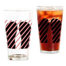 FF-pinkstripes Drinking Glass