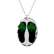 FF-clovers Necklace Oval Charm