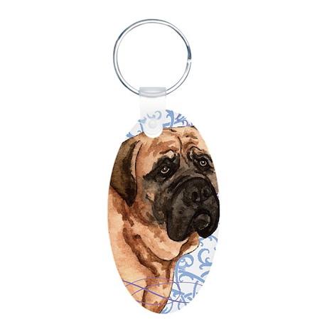 mastiff-key2 back Aluminum Oval Keychain