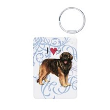 leonberger-oval charm Keychains