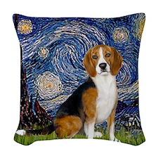 Z-16x20-Starry-Beagle7 Woven Throw Pillow