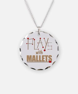 mallets percussion marimba x Necklace Circle Charm