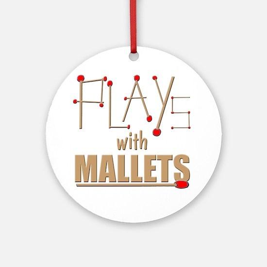 mallets percussion marimba xylophon Round Ornament