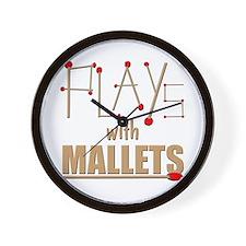 mallets percussion marimba xylophone ma Wall Clock
