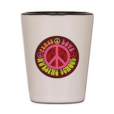 CP - peace love nursing2 Shot Glass